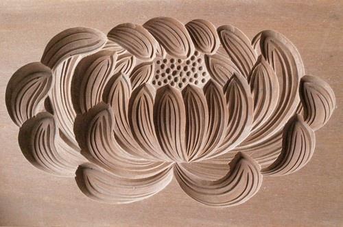 Japanese Antique Kashigata Kiku Flower with Cover Hand Carved Wooden Cake Mold | eBay