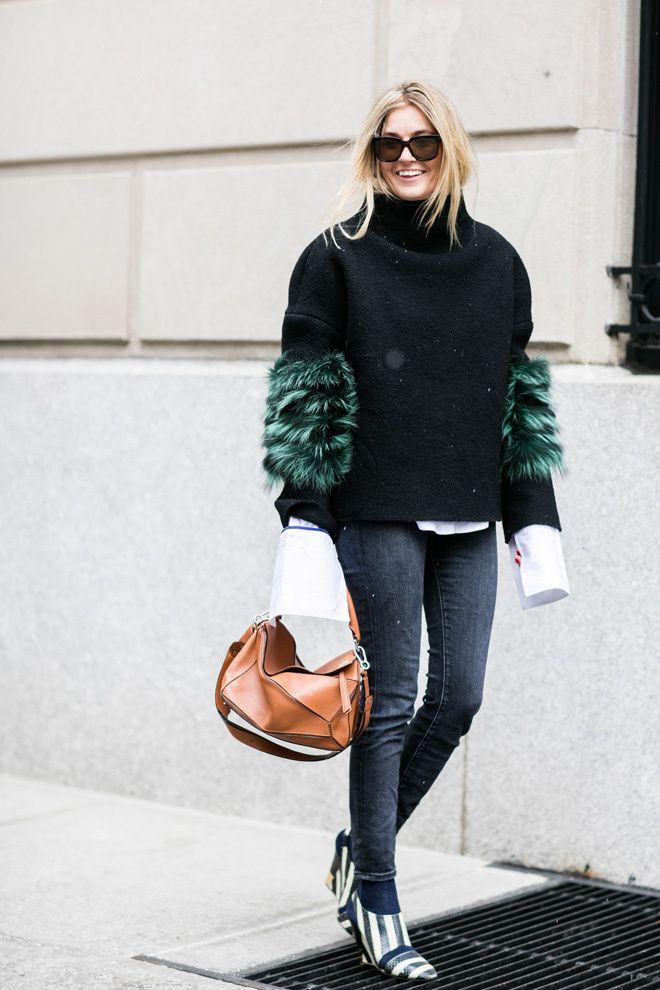 Street looks : la tendance fourrure fantaisie vue a la Fashion week de New York automne hiver 2016 2017 6