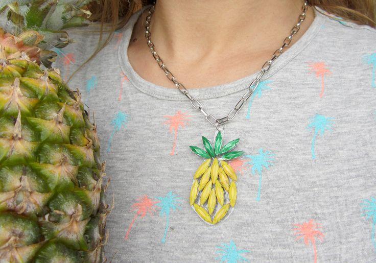 DIY Collar de piña por My White Idea
