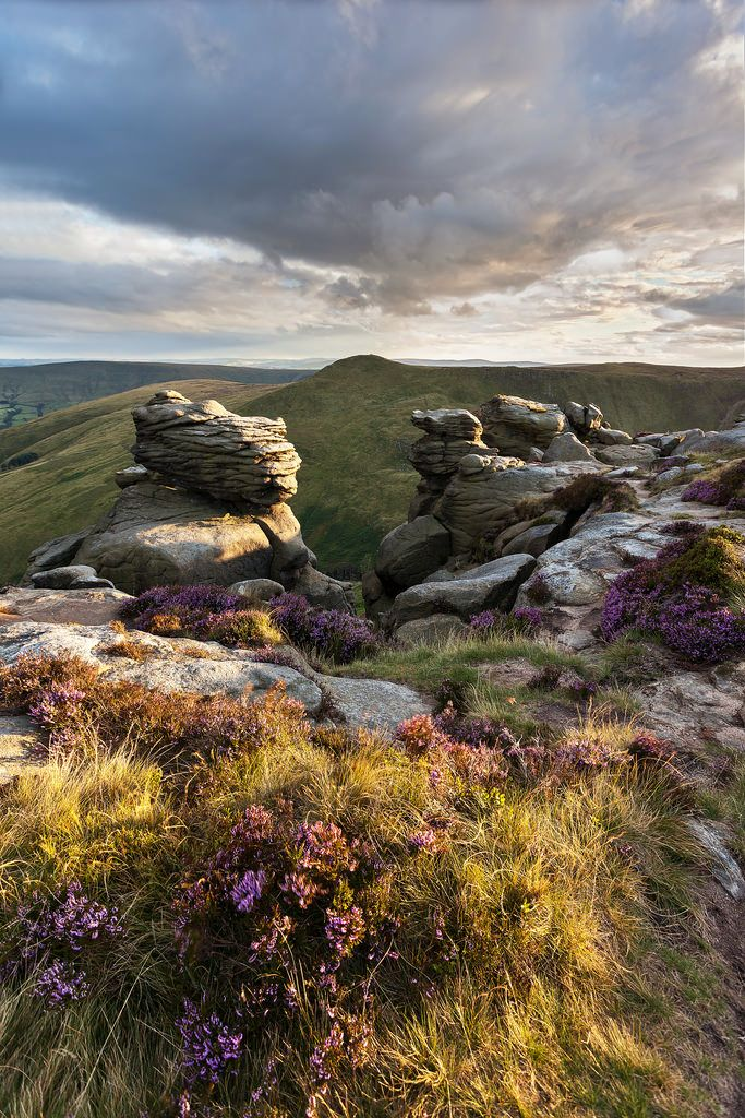 ༺✿༺ Kinder Scout is a moorland plateau and National Nature Reserve in the Dark Peak of the Derbyshire Peak District.