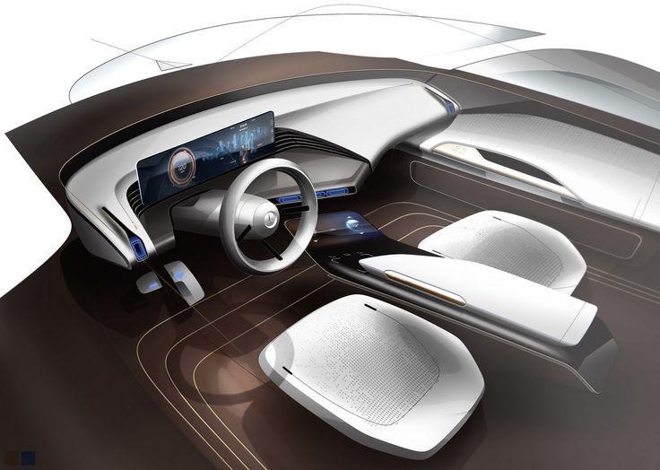 jaguar interior sketch