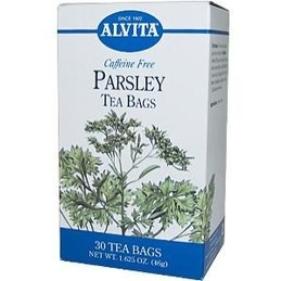 Drinking Parsley Tea (this exact kind) in conjunction with ginger tablets and progesterone creme in hopes of naturally educing menstruation (started on 1/24/13)