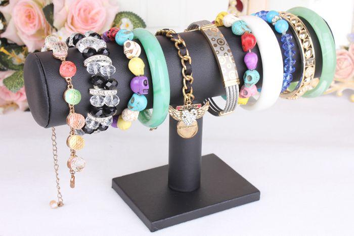 kwaliteit fluwelen single tier armband horloge armband houder houder lederen frame hoofdband sieraden accessoires weer te geven rek opslag
