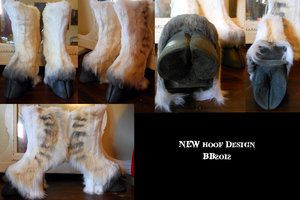 Hoof Boot Design by Magpieb0nes;   --handmade from diviant art, makes custom-made for men and women of varying lengths