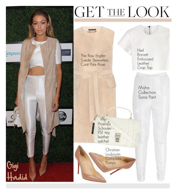 """""""Get the Look: Gigi Hadid"""" by helenevlacho ❤ liked on Polyvore featuring Misha Collection, Neil Barrett, Christian Louboutin, GetTheLook, StreetStyle, CelebrityStyle and gigihadid"""