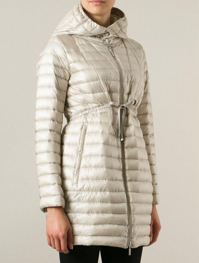 Prix de moncler BARBEL manteau doudoune longue femme capuche beig boutique