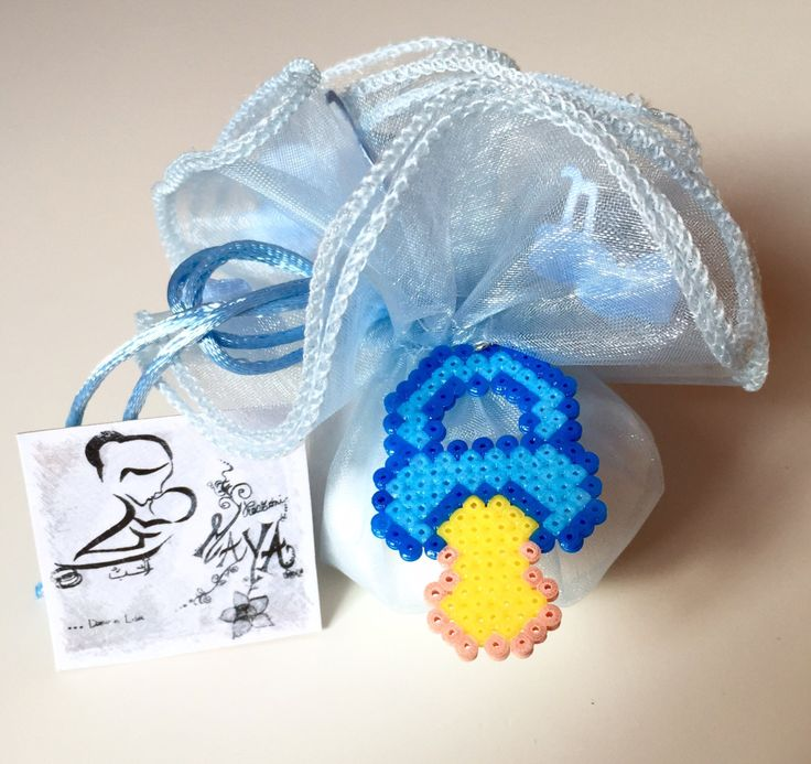 Baptism Favor Pacifier hama beads by LeCreazioniDiMaYa