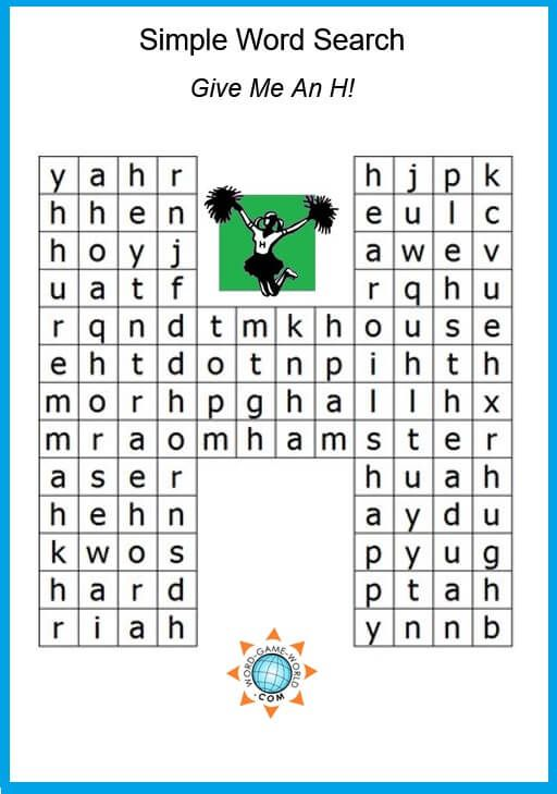 A Simple Word Search for Kids or Beginners of Any Age! | free easy ...