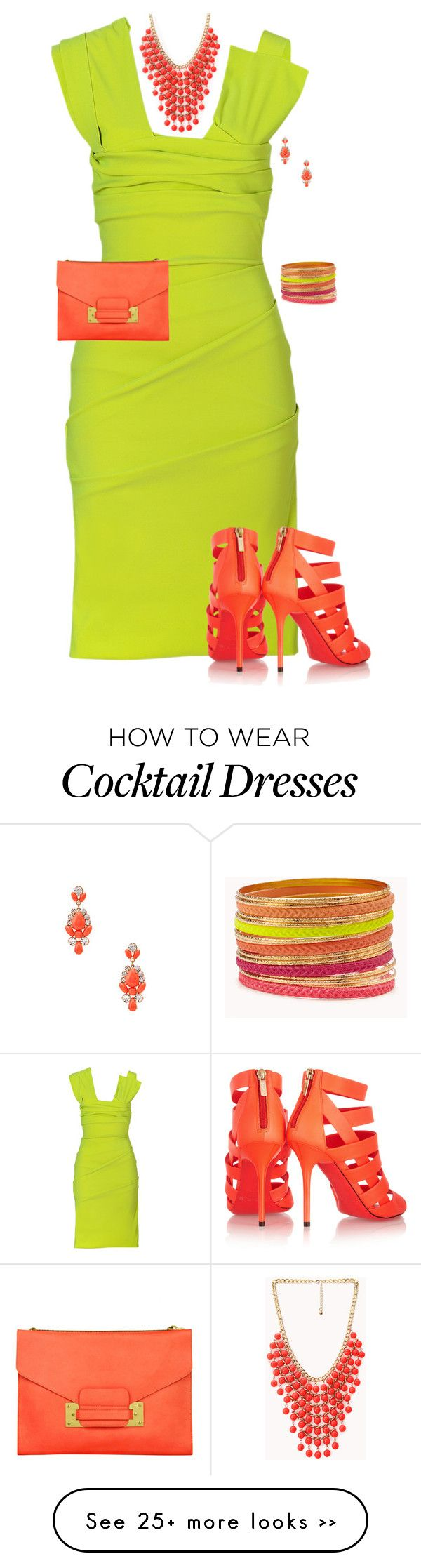 """""""Neon Cocktail Dress"""" by dkelley-0711 on Polyvore"""