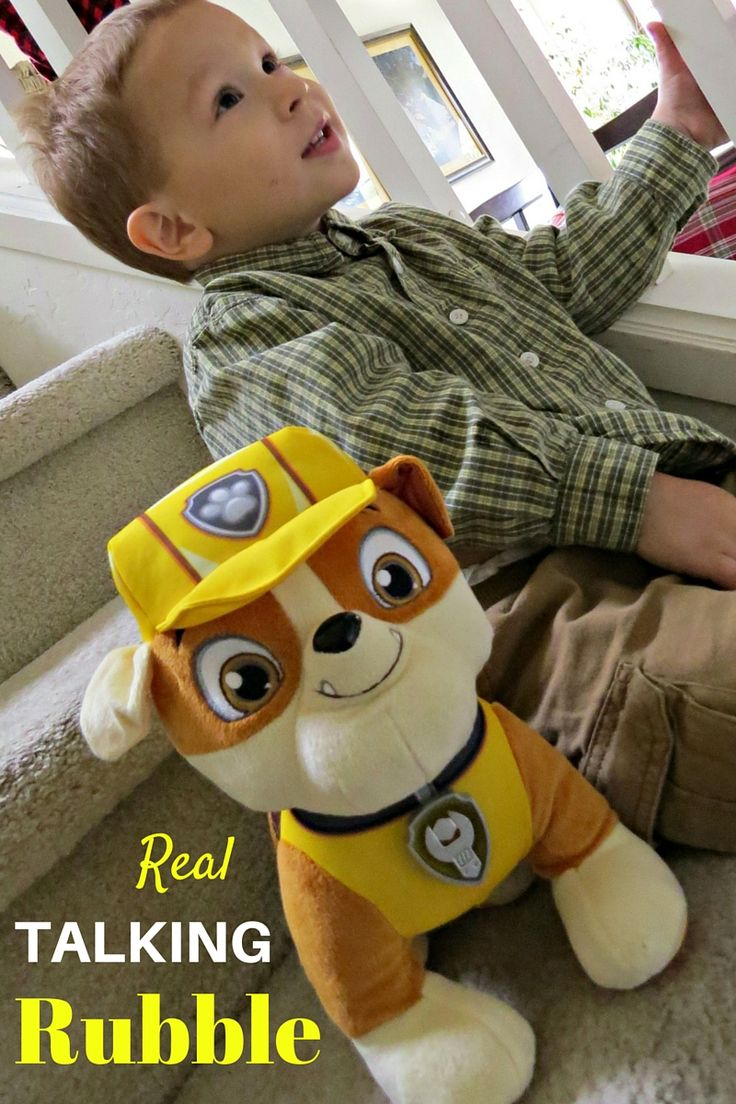 Real Talking Rubble Paw Patrol Plush Dog