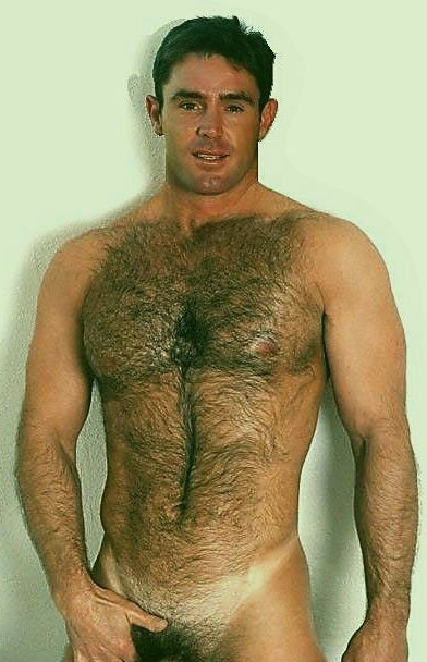 What naked hairy chest men And