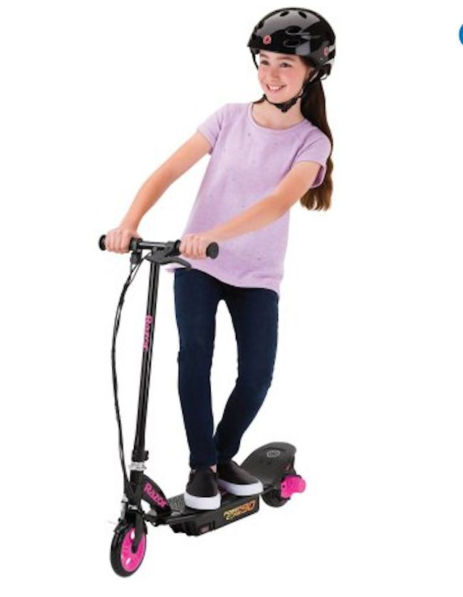 Electric Scooter For Kids Outside Toys For Girls Battery Operated Kickstand Pink #Razor