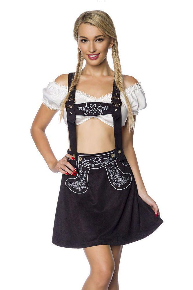 Dirndl Tracht Oktoberfest Trachtenrock XS S M L XL 2XL Rock Kostüm Dirndline NEU