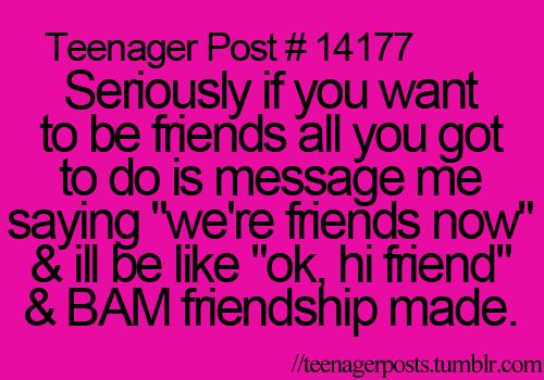 Yay friendship!!! Try it....