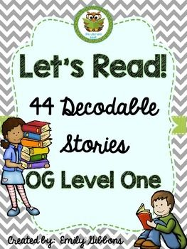 Orton-Gillingham Level One Readers is a collection of 44 decodable passages with controlled text. It is compatible with Orton-Gillingham instruction.