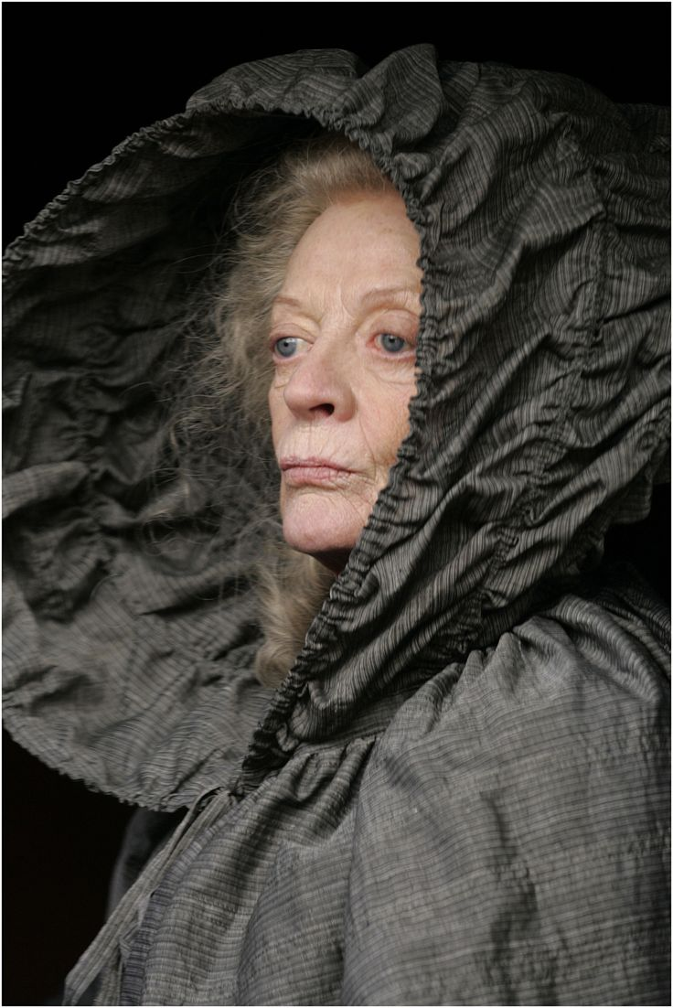 Yes, it is Maggie Smith. I had to pin it for the great hood-cape and photo styling!