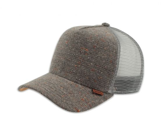 Trucker Cap HFT Spotted Wool Pique Grey