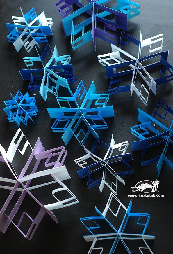 Fabriquez des flocons de neige en 3D! Une illusion incroyable! - Bricolages - Des bricolages géniaux à réaliser avec vos enfants - Trucs et Bricolages - Fallait y penser !