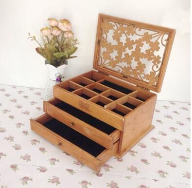Cheap jewelry box packaging, Buy Quality jewelry boxes and bags directly from China jewelry box direct Suppliers: start Hongyitang solid wood carved with retro makeup box...US $141.56 makeup organizer rotation of the desktop cos