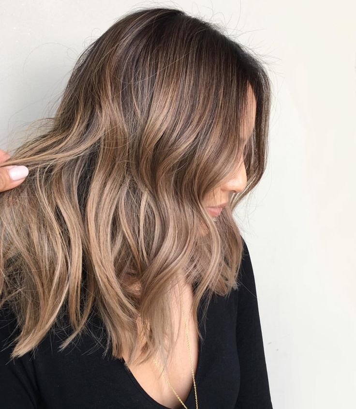 A perfect color for brunettes who want to go lighter but not blonde