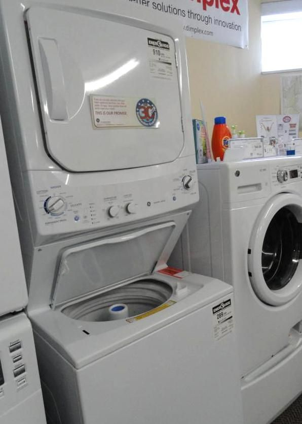 Compact Laundry Units Are Gaining Popularity And Sporting Some Great Features When Space Is Limited Co In 2020 Washer And Dryer Tiny Laundry Rooms Laundry Room Storage