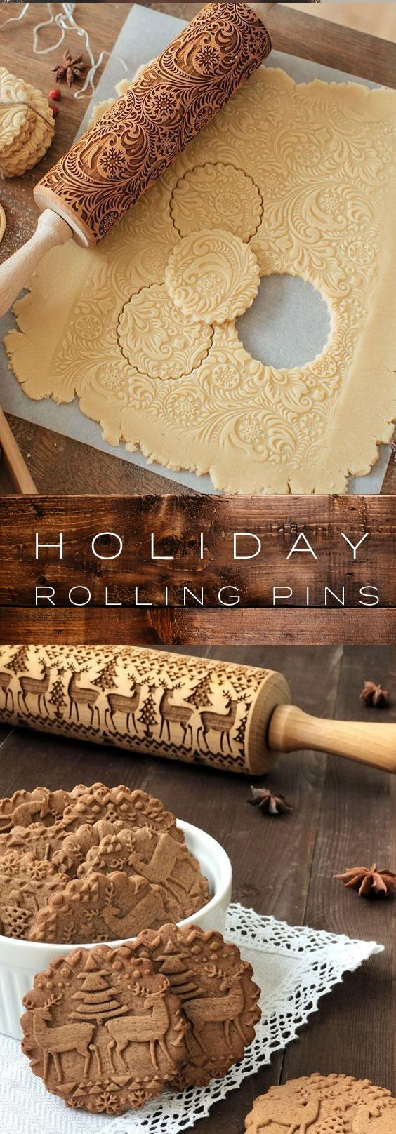 Holiday 3D Pattern Rolling Pins – ★★★★★ …