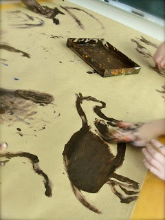 cave art, teacher has great writing lesson to follow up