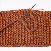 Chiudere il lavoro a maglia perché sia elastico (con ago)