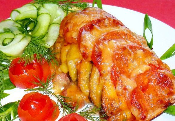 Chicken baked with vegetables | Recipe for you
