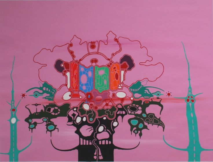 tor-magnus lundeby | The Embossy , 2009, acrylic, alkyd and oil on canvas, 95x125cm