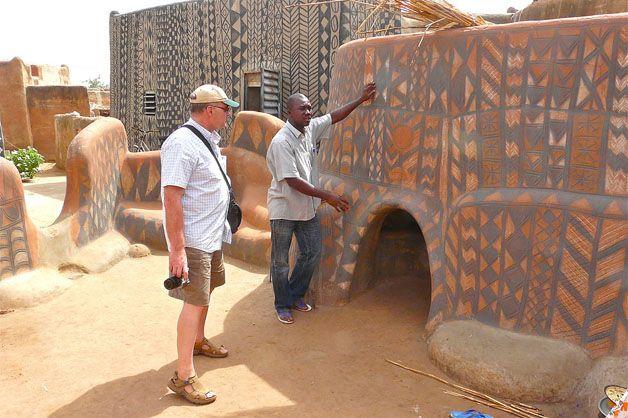 Vila de Tiebele, na África