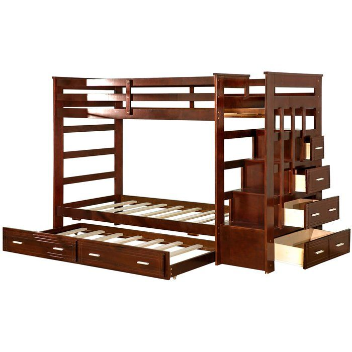 Jeremias Twin Over Twin Bunk Bed With Trundle And Drawers