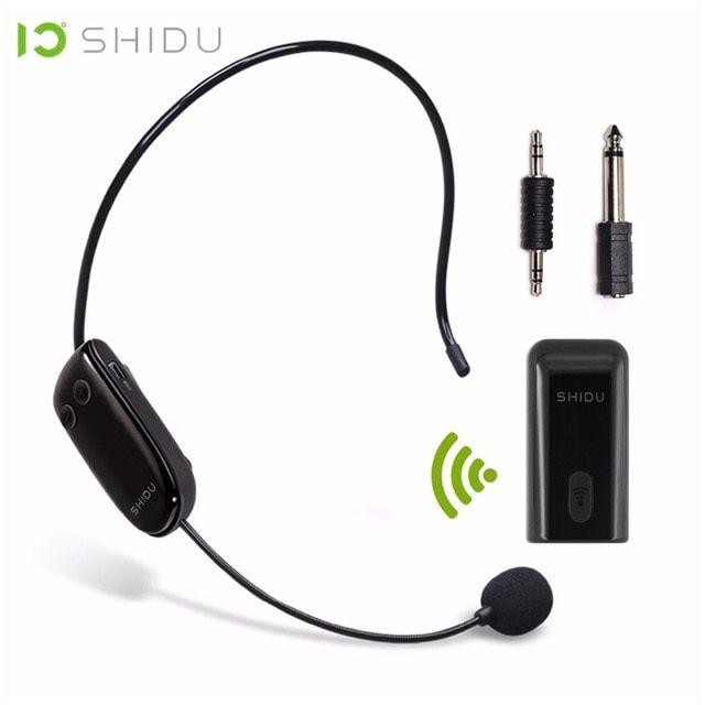 Shidu Uhf Wireless Head Headset Microphone 2 In 1 Handheld Portable Mic Voice Changer Amplifier For Speech 3 5mm Plug Receive Voice Amplifier Headset Amplifier