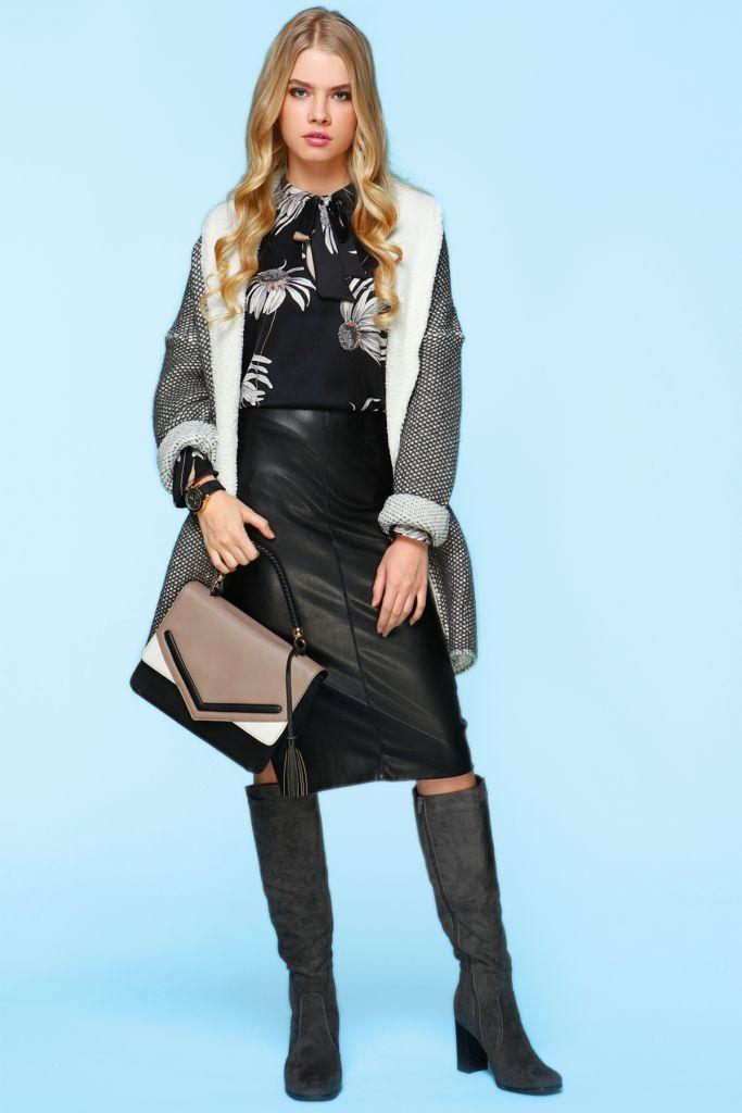 С чем носить кожаную юбку: стильные образы на каждый день – Lisa.ru