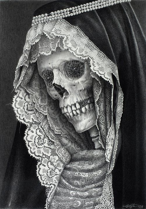 """""""Lachrymose Lace"""" by Laurie Lipton."""