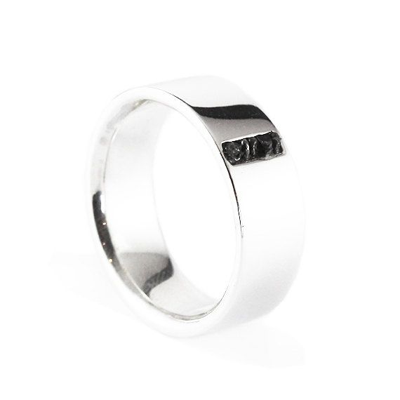 Hey, I found this really awesome Etsy listing at https://www.etsy.com/au/listing/474159744/mens-wedding-band-14k-white-gold-raw