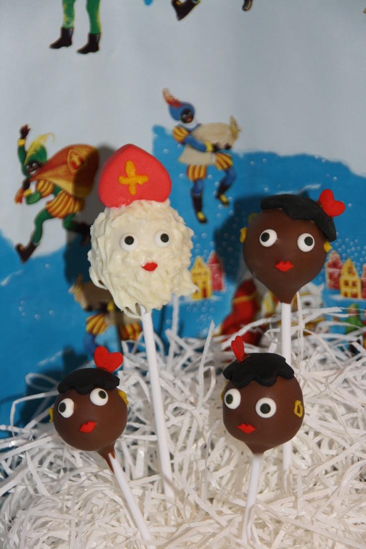 Sinterklaas cake pop