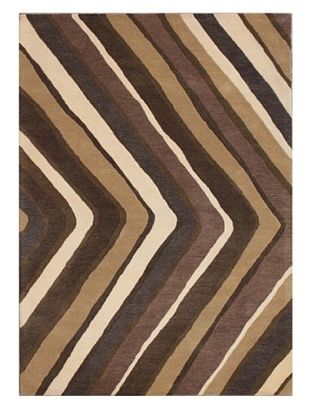 -28,700% OFF Mili Designs NYC V Patterned Rug, Tan/Multi, 5' x 8'