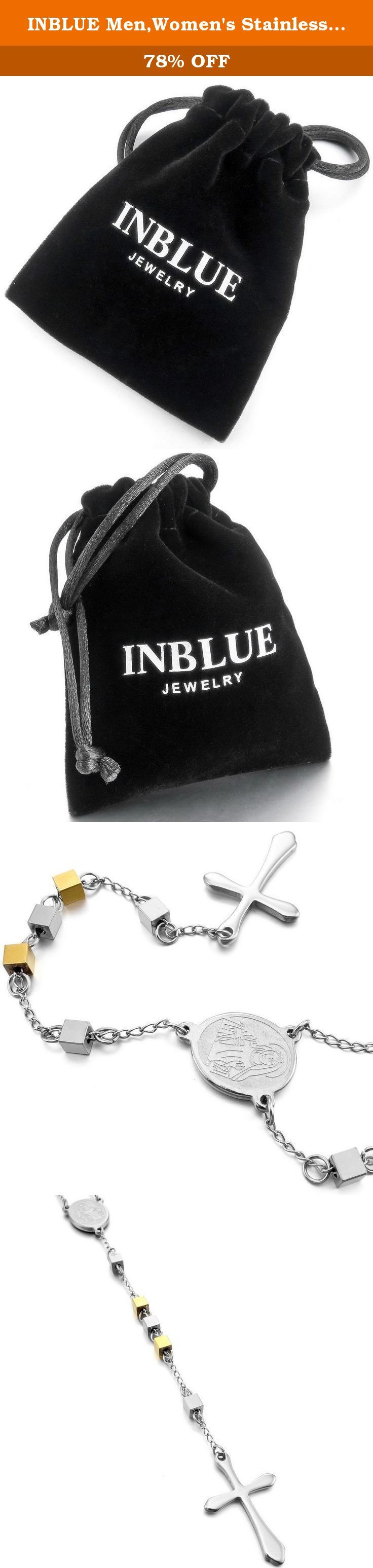 INBLUE Men,Women's Stainless Steel Pendant Necklace Gold Silver Two Tone Virgin Mary Christ Crucifix Cross Pentagram Pentacle Star Rosary 26 Inch Chain. INBLUE - High quality Jewelry Discover the INBLUE Collection of jewelry. The selection of high-quality jewelry featured in the INBLUE Collection offers Great values at affordable Price, they mainly made of high quality Stainless Steel, Tungsten, Silver and Leather. Find a special gift for a loved one or a beautiful piece that complements...