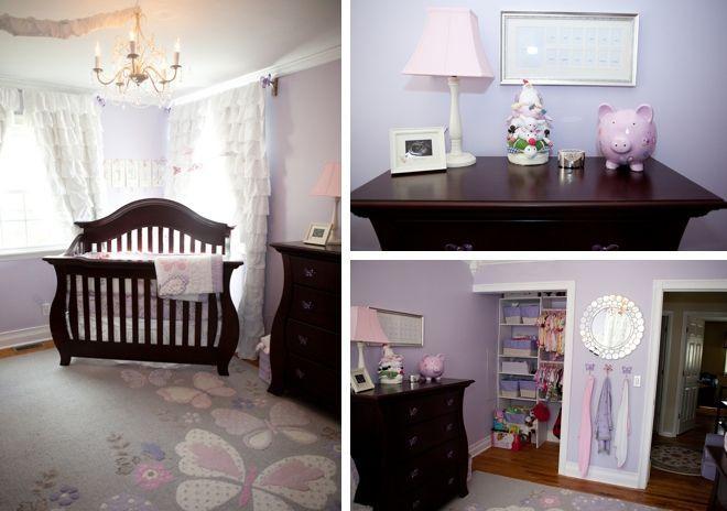 baby nursery ideas with purple | Purple Nursery w/ Dark Furniture | Nursery Ideas