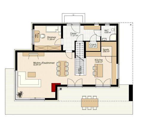 27 besten doppelhaus bilder auf pinterest flachdach. Black Bedroom Furniture Sets. Home Design Ideas