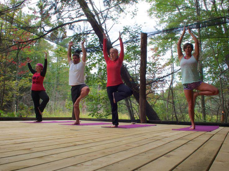 Yoga in the Forest at Pura Vida Soul Institute Inc. in Muskoka, Ontario.  www.PuraVidaMuskoka.com Photo Credit: Larry Carroll