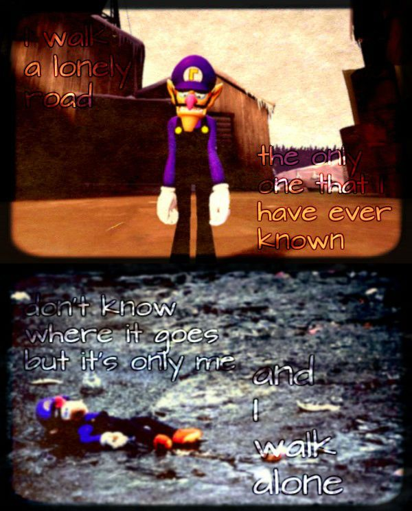 It's a cold and it's a broken waluigi