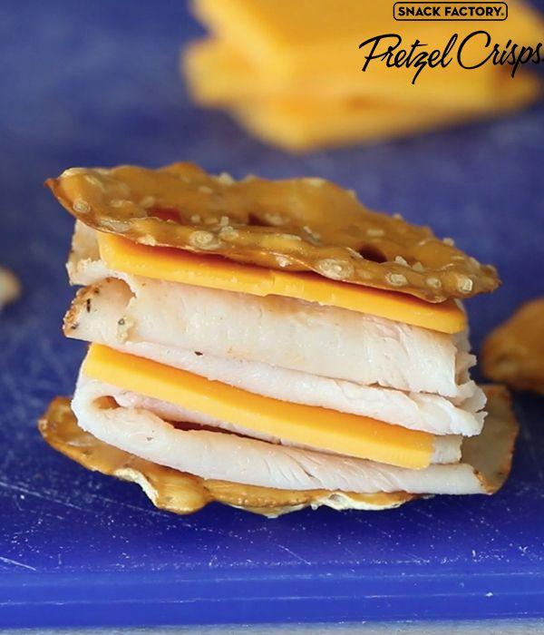 Turkey & Cheese Pretzel Crisps Sammies