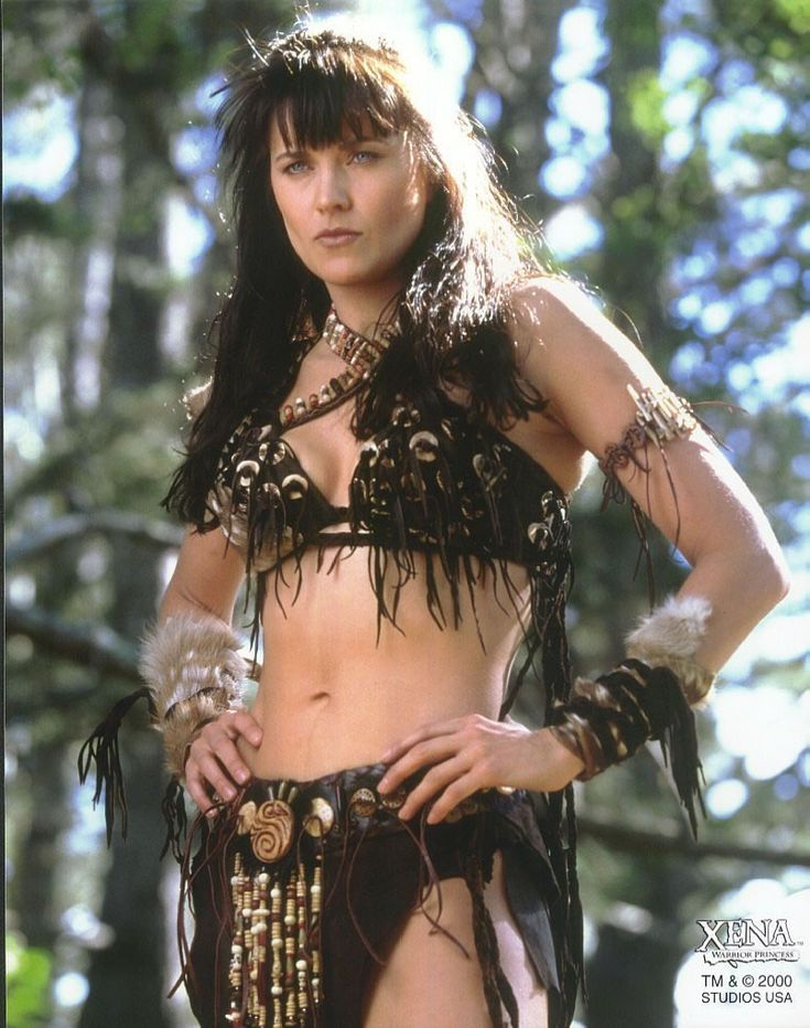 Xena was a mighty female warrior, Xena once left her village and led a army of outlaws that terrorized the lands, and was a former enemy of the legendary hero Hercules. Description from filmaffinity.com. I searched for this on bing.com/images