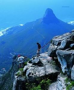This one, I've actually done. Nothing like it in the world!  Abseiling from Table Mountain, Cape Town, South Africa