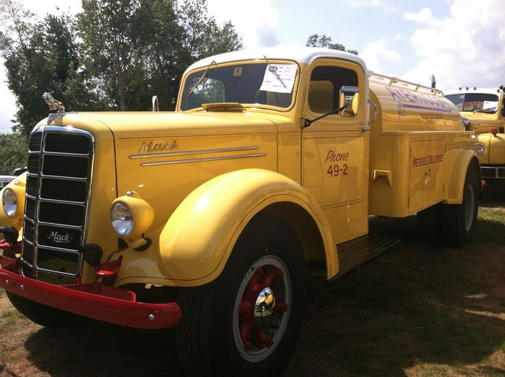 Antique Mack fuel truck