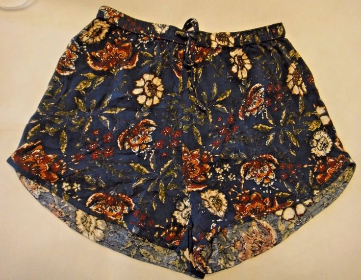 NWT Abercrombie & Fitch Womens Blue Floral Patterned Cover Up Shorts XS X Small #AbercrombieFitch #CasualShorts