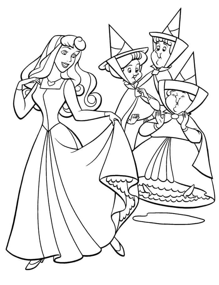Cute Disney Sleeping Beauty Coloring Pages In 2020 With Images