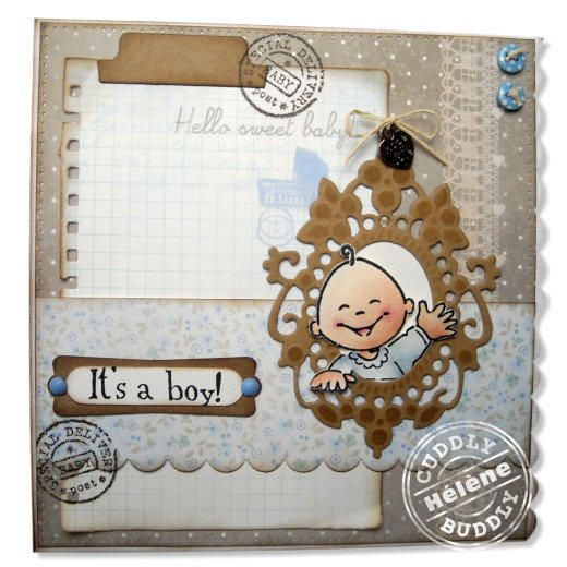 Marianne Design Collectables Cutting Dies & Clear Stamps - Eline's Baby COL1313 - Crafted by Hélène
